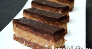 Csokis diós bajadera szelet