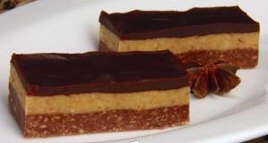 Csokis diós szelet sütés nélkül