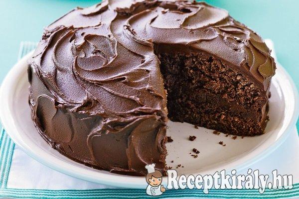 Csokoládékrémes csokitorta