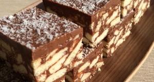 Csokoládés kekszkocka
