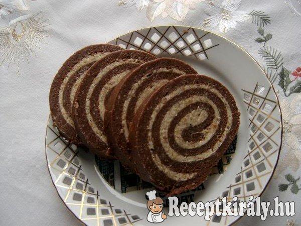 Diókrémes keksztekercs