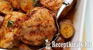 Fűszeres csirkecombok burgonyával