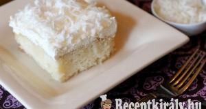 Kókuszos vaníliakrémes szelet