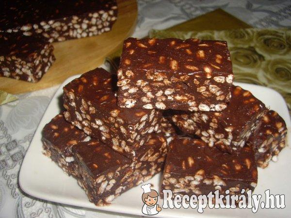 Puffasztott rizses csokis szelet
