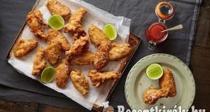 Ropogós csirkeszárnyak
