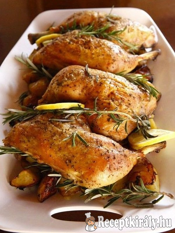 Rozmaringos csirkecombok Zsike konyhájából