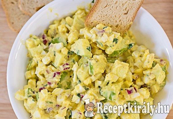 Zöldfűszeres uborkás tojássaláta