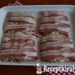 Baconbe tekert tejszínes sajtos karaj 2