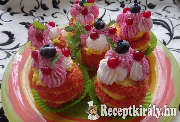 Céklás vörösbársony mini torta