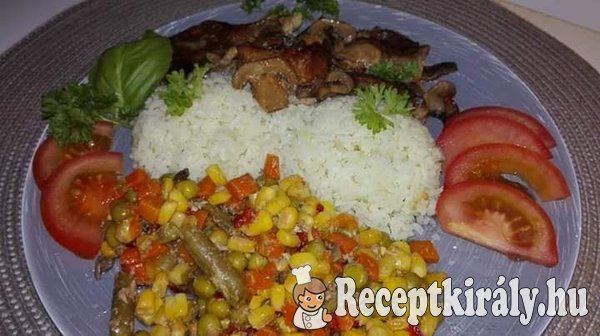 Zöldséges karaj párolt rizzsel