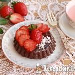 Csokoládés gyümölcstorta eperrel 1