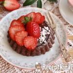 Csokoládés gyümölcstorta eperrel 2