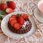 Csokoládés gyümölcstorta eperrel 3
