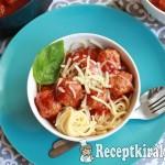 Paradicsomos húsgombócok spagettivel 1