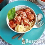 Paradicsomos húsgombócok spagettivel