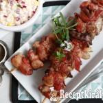 Baconbe tekert zöldfűszeres csirkemáj 1