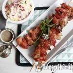 Baconbe tekert zöldfűszeres csirkemáj 2