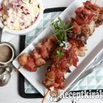 Baconbe tekert zöldfűszeres csirkemáj 3