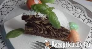 Zebra torta Erzsike konyhájából
