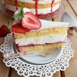 Túrókrém torta eperrel 1