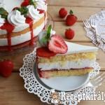 Túrókrém torta eperrel