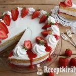 Túrókrém torta eperrel 2