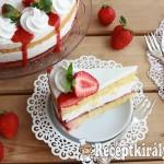 Túrókrém torta eperrel 3