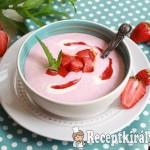 Joghurtos eperkrémleves 3
