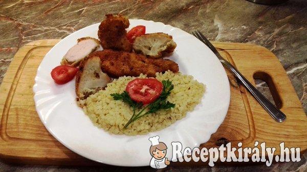 Rántott csirkemell és karfiol bulgurral