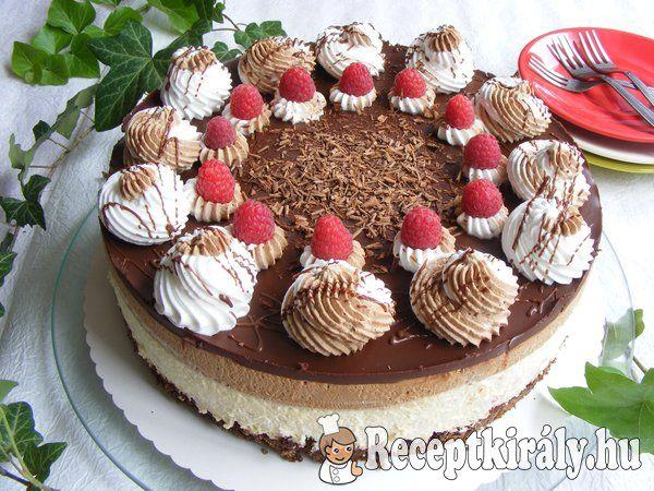 Málnazselés csokimousse torta