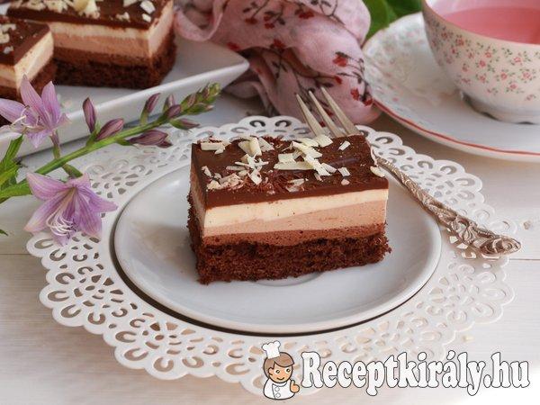 Csokoládés krémes szelet