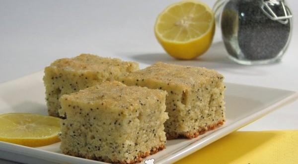 Citromos mákos sütemény