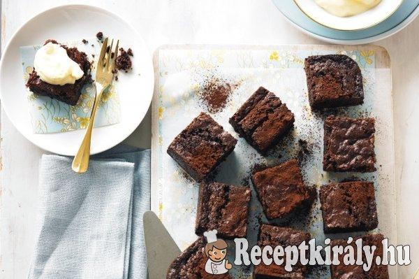 Csokoládés brownie mascarpones krémmel
