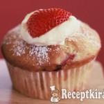 Epres-joghurtos muffin