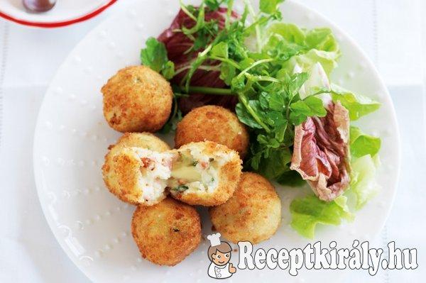 Fűszeres baconos sajtgolyók