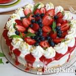Joghurtos túrókrém torta erdei gyümölcsökkel 2
