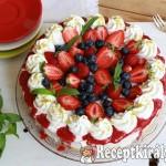 Joghurtos túrókrém torta erdei gyümölcsökkel 3
