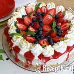 Joghurtos túrókrém torta erdei gyümölcsökkel 4