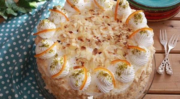 Narancsos vaníliakrémes torta