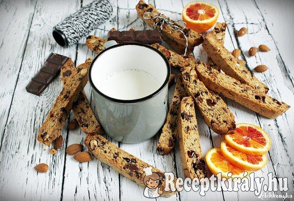 Csokis-mandulás biscotti