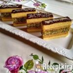 Francia mézes-mákos krémes szelet