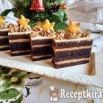 Karácsonyi csokoládés szelet áfonyával