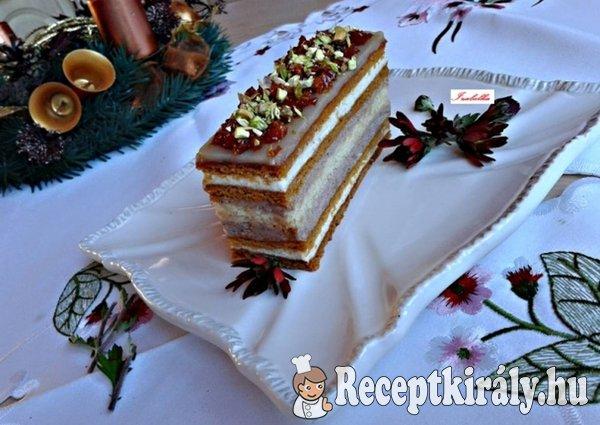 Karácsonyi mézes karamellás szelet