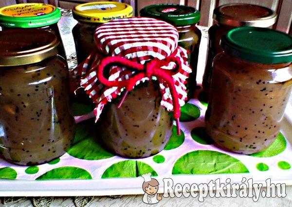 Kivis banános dzsem rummal és fahéjjal