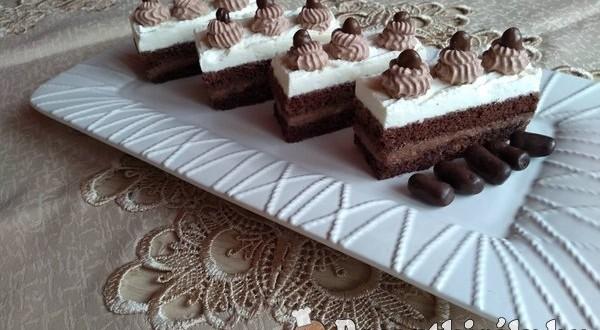 Tejszínhabos csoki szelet