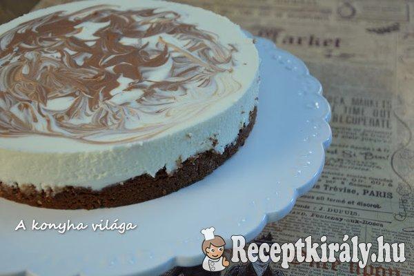 Sajtkrémes csokoládés torta